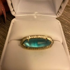 Sea blue Kendra Scott ring